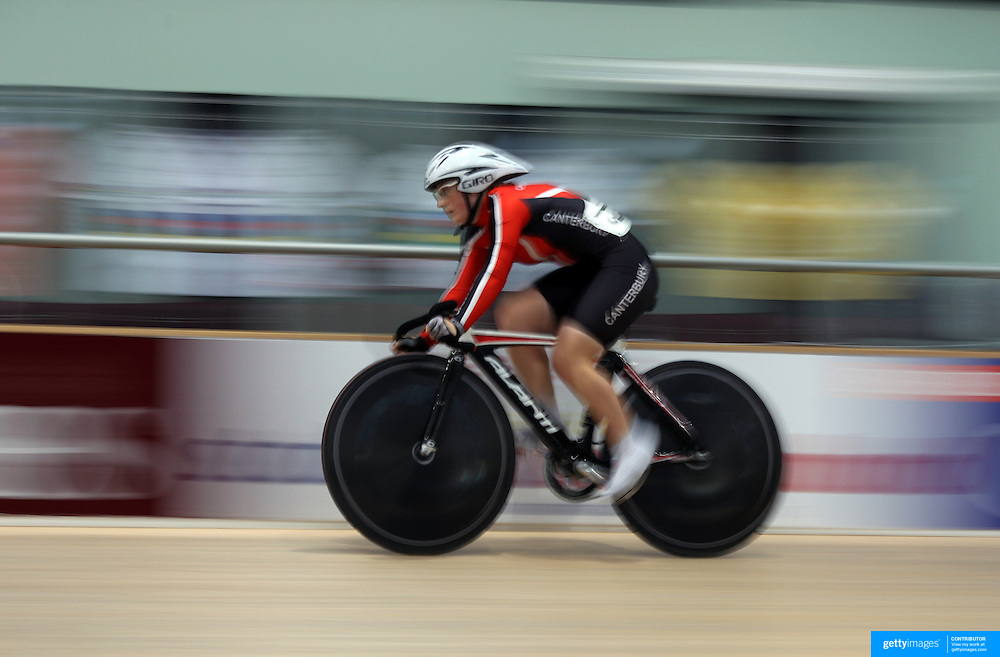 Kathryn Jones, New Zealand, in action during the Women Omnium, Flying Lap during the 2012 Oceania WHK Track Cycling Championships, Invercargill, New Zealand. 21st November 2011. Photo Tim Clayton