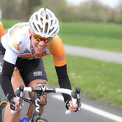 DELFZIJL wielrennen, De eerste etappe van de Energiewachttour 2014 werd verreden rond Delfzijl. Iris Slappendel