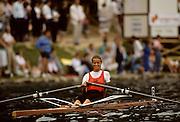 Bled, Slovenia, YUGOSLAVIA.  NED W1X. Harriet van ETTEKOVEN. 1989 World Rowing Championships, Lake Bled. [Mandatory Credit. Peter Spurrier/Intersport Images]