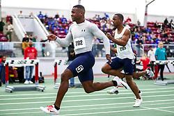 mens 60 meter prelim 3, Brian Sosoo<br /> Boston University Scarlet and White<br /> Indoor Track & Field, Bruce LeHane