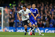 Mousa Dembele of Tottenham Hotspur in action. Barclays Premier league match, Chelsea v Tottenham Hotspur at Stamford Bridge in London on Monday 2nd May 2016.<br /> pic by Andrew Orchard, Andrew Orchard sports photography.