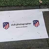 06.11.2019, BayArena, Leverkusen, Championsleague, Vorrunde, 4. Spieltag, GER, UEFA  CL, Bayer 04 Leverkusen (GER) vs. Atletiko Madrid (ESP),<br />  <br /> DFL regulations prohibit any use of photographs as image sequences and/or quasi-video<br /> <br /> im Bild / picture shows: <br /> reservierte Photoplätze <br /> <br /> Foto © nordphoto / Meuter<br /> <br /> <br /> <br /> Foto © nordphoto / Meuter
