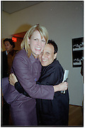 Kate Betts and Azzadine Alaia. Azzadine Alaia installation. 575 Broadway. NY. 22 September 2000. © Copyright Photograph by Dafydd Jones 66 Stockwell Park Rd. London SW9 0DA Tel 020 7733 0108 www.dafjones.com