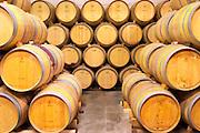 Domaine de l'Hortus. Pic St Loup. Languedoc. Barrel cellar. France. Europe.