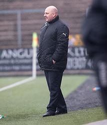 Forfar Athletic's manager Gary Bollan. Forfar Athletic 1 v 2 Edinburgh City, Scottish Football League Division Two played 11/3/2017 at Station Park.