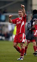 Photo: Jed Wee.<br />Hartlepool United v Bristol City. Coca Cola League 1. 15/04/2006.<br /><br />Bristol City's Alex Russell, scorer of their second goal, celebrates with the fans at the end of the game.