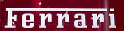 10.09.2013, Messegelaende, Frankfurt, GER, IAA 2013, im Bild Ferrari Schriftzug // during the IAA 2013 at the Messegelaende in Frankfurt, Germany on 2013/09/10. EXPA Pictures © 2013, PhotoCredit: EXPA/ Eibner/ Alexander Neis<br /> <br /> ***** ATTENTION - OUT OF GER *****