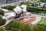 The Jay Pritzker Pavilion in Chicago, Illinois' Millennium Park. Photo by Mark Black