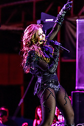 PICO RIVERA, CA - OCT 19 Latin Diva Singer Gloria Trevi performed at Pico Rivera Sports Arena a solid set of old hits and new hits. Pico Rivera, USA. 2014 Oct 19. Byline, credit, TV usage, web usage or linkback must read SILVEXPHOTO.COM. Failure to byline correctly will incur double the agreed fee. Tel: +1 714 504 6870.