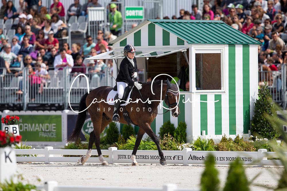 Roberta Sheffield, (CAN), Bindro T - Freestyle Test Grade III Para Dressage - Alltech FEI World Equestrian Games™ 2014 - Normandy, France.<br /> © Hippo Foto Team - Leanjo de Koster<br /> 25/06/14