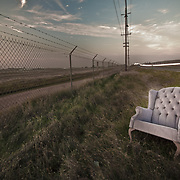 Trash found on the Road Side of Scott Road. Chair was faced perfect to view the setting sun!
