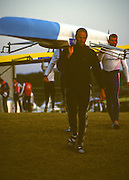 Sydney. AUSTRALIA. 2000 Summer Olympic Regatta, Penrith. NSW.  <br /> <br /> GBR M4-. Steve REDGRAVE and Matthew PINSENT.Sunrise at the  Sydney International Regatta Centre (SIRC), as crews boat to start there training sessions.<br /> <br /> [Mandatory Credit Peter SPURRIER/ Intersport Images] Sydney International Regatta Centre (SIRC) 2000 Olympic Rowing Regatta00085138.tif