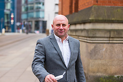 © Licensed to London News Pictures . 23/03/2021. Manchester , UK . Former Manchester United and England footballer RONNIE WALLWORK leaves Minshull Street Crown Court . Wallwork and his co-accused David Garner were handed non-custodial sentences after previously pleading guilty to inflicting grievous bodily harm upon a man during an incident at a bar on 22nd December 2019 . Photo credit : Joel Goodman/LNP
