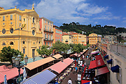 Flower market in old town, Vielle Ville, part of Nice on the French riviera