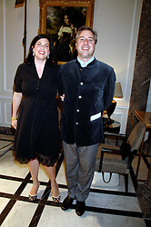 The HON.KIRSTIE ALLSOPP and BEN ANDERSON at a party to celebrate the 180th Anniversary of The Spectator magazine, held at the Hyatt Regency London - The Churchill, 30 Portman Square, London on 7th May 2008.<br /><br />NON EXCLUSIVE - WORLD RIGHTS