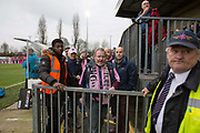 Dulwich Hamlet FC beat Eastbourne Borough 2 - 1 at their first home game at Champion Hill on 26th December 2018 in South London in the United Kingdom. The National League South team return to their home ground at Champion Hill following a 10 month eviction initiated by the clubs landlord, Meadow Residential. During the exile, local team Tooting and Mitcham United offered a groundshare at Imperial Fields.