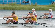 Eton Dorney, Windsor, Great Britain,..2012 London Olympic Regatta, Dorney Lake. Eton Rowing Centre, Berkshire[ Rowing]...Description;  Men's B Final Double Sculls.  NOR M2X, Nils Jakob HOFF (b) , Kjetil BORCH (s)   AUS.M2X. David CRAWSHAY (b) , Scott BRENNAN (s).. Dorney Lake. 09:56:23  Thursday  02/08/2012.  [Mandatory Credit: Peter Spurrier/Intersport Images].Dorney Lake, Eton, Great Britain...Venue, Rowing, 2012 London Olympic Regatta...
