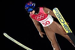 February 17, 2018 - Pyeongchang, SOUTH KOREA - 180217 Kamil Stoch of Poland in the men's large hill individual final during day eight of the 2018 Winter Olympics on February 17, 2018 in Pyeongchang..Photo: Carl Sandin / BILDBYRÃ…N / kod CS / 57999_303 (Credit Image: © Carl Sandin/Bildbyran via ZUMA Press)