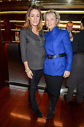 Left to right, NATALIE PINKHAM and JULIA SAMUEL godmother to Prince Georgeat a ladies lunch in aid of the charity Child Bereavement UK held at The Bulgari Hotel, 171 Knightsbridge, London on 25th February 2016.
