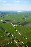 Nederland, Friesland, Gemeente Skarsterlan (Scharsterland), 01-05-2013; Haskerveenpolder tussen Joure en Akkrum. Weidegebied met uitzonderlijk open karakter. De polders hebben na de Tweede Wereldoorog een ruilverkaveling ondergaan met  betere waterhuishouding en rationeel indeling van de kavels als gevolg. Wederopbouwgebied.<br /> <br /> QQQ<br /> luchtfoto (toeslag op standard tarieven)<br /> aerial photo (additional fee required)<br /> copyright foto/photo Siebe Swart