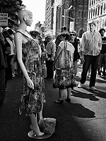 A Mannequin attracts attention during the stret fair on Lexington Avenue, New York City