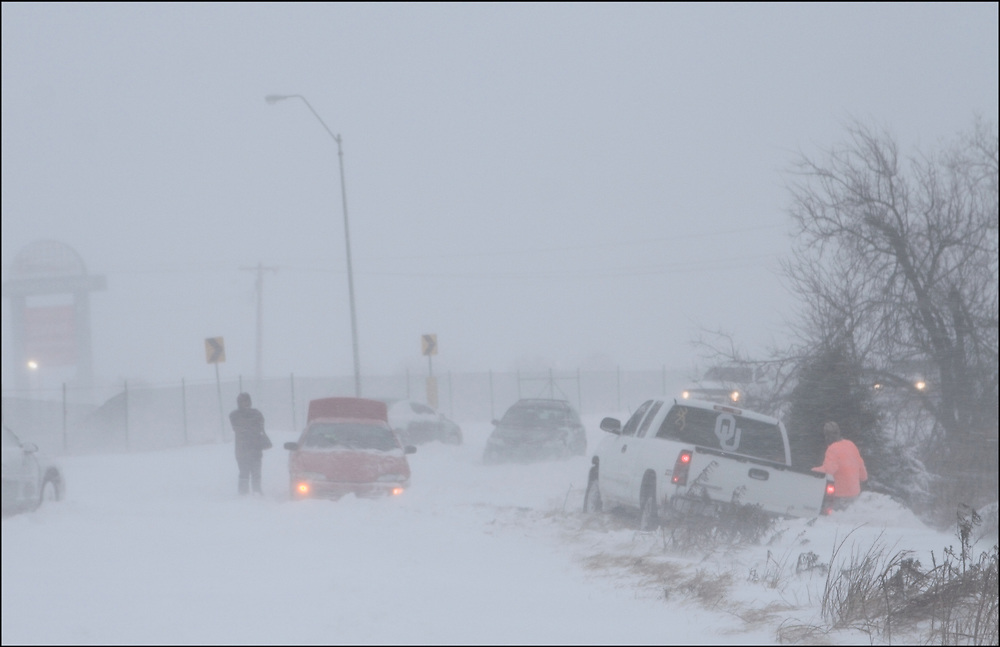 Dangerous Blizzard conditions have Oklahoma City crippled.