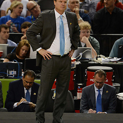 Mar 31, 2012; New Orleans, LA, USA; Kansas Jayhawks head coach Bill Self during the first half in the semifinals of the 2012 NCAA men's basketball Final Four against the Ohio State Buckeyes at the Mercedes-Benz Superdome. Mandatory Credit: Derick E. Hingle-US PRESSWIRE