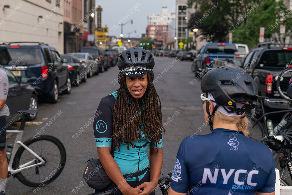 NEWARK, NEW JERSEY: The annual Major Taylor Cycling Club of New Jersey's Newark tp New Hope Sunday August 8, 2021.(©Brian B Price/TheFotodesk)
