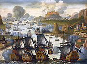 Sea Battle of Vigo bay, 23 October 1702. Episode in the War of the Spanish Succession by 1899: G. de Clerq, Amsterdam