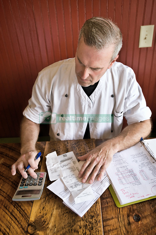 July 6, 2016 - Chef working on accounts (Credit Image: © Leland Bobbe/Image Source via ZUMA Press)