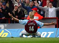 2003-05-03<br />Barclaycard Premiership<br />Aston Villa v Sunderland<br /><br />ASTON VILLA'S MATCH WINNER MARCUS ALLBACK CELEBRATESHIS GOAL  DURING TODAYS PREMIERSHIP GAME.<br />PIC BY DANIEL HAMBURY/SPORTSBEAT IMAGES