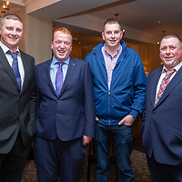 Aidan Hurley, Shane Shannon, Tony and Trevor Hayes from Lahinch at the Clare Limousin Breeders Annual Dinner Dance at the Bellbrige Hotel, Spanish Point on Saturday night
