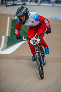 #89 (BONDARENKO Yaroslava) RUS at Round 1 of the 2020 UCI BMX Supercross World Cup in Shepparton, Australia