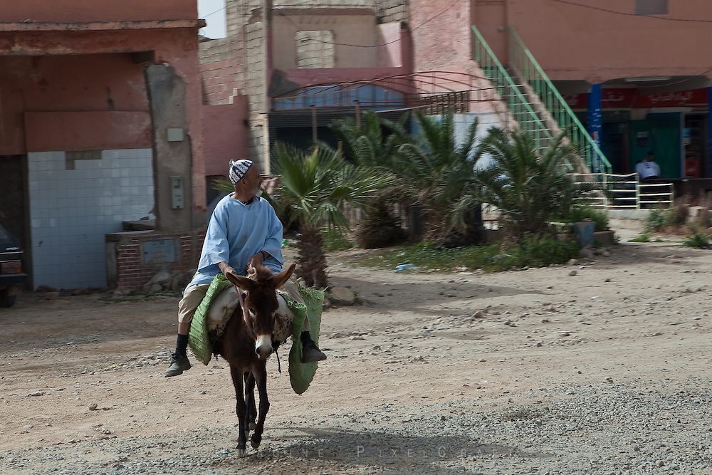 The old modes of transport are still used by the Berber tribesmen of Morocco.