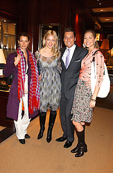 Left to right, ANDREA BERGH, DONATA KORZEN and SEB & HEIDI BISHOP at a party at Ralph Lauren, Bond Street, London in support of the NSPCC's Full Stop campaign on 21st March 2006.<br /><br />NON EXCLUSIVE - WORLD RIGHTS