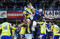Julien Bonnaire / William Whetton  - 20.12.2014 - Clermont / Castres - 13eme journee de Top 14 -<br /> Photo : Jean Paul Thomas / Icon Sport