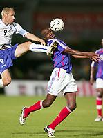 Fotball<br /> Frankrike v Bosnia og Herzegovina<br /> Foto: Dppi/Digitalsport<br /> NORWAY ONLY<br /> <br /> FOOTBALL - FRIENDLY GAMES 2006/2007 - BOSNIA AND HERZEGOVINA v FRANCE - 16/08/2006 - PATRICK VIEIRA (FRA) / SERGEJ BARBAREZ (BOS)