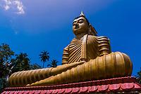 A 50m-high seated Buddha figure – the largest in Sri Lanka, Wewurukannala Vihara, Dikwela, Southern Sri Lanka