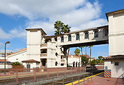 Elevated Walkway at the Santa Ana Train Station Connecting the Northbound and Southbound Platforms