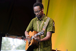 Mudibu performs during Africa on the Square, an event celebrating  traditions and cultures of the African continent, in Trafalgar Square, London. Picture date: Saturday October 15, 2016. Photo credit should read: Matt Crossick/ EMPICS Entertainment.