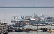 Pleasure cruisers awaiting Chinese and Western passengers on Yangtze River cruise, Yichang, China