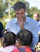 August 16, 2019 Democratic Presidential candidate Beto O'Rourke visits the Tienda Anita Mexican Grocery Store in Canton Mississippi on his first day back on the campaign trail after the El Paso mass shootings. O' Rourke picked Canton because the largest ICE raids ever to occur in the United States  was conducted in Mississippi last week arresting 680 illegal immigrants. Beto spoke outside the Peco Food Plant, the site of one of the ICE raids with some immigrants affected by the raids, He also bought food to be passed out to the local community. O'Rourke spoke to the media after meeting with the store owners and some immigrants, he said if we don't wake up to the threat from all the Trump rhetoric then we will die in our sleep. Photo ©Suzi Altman
