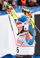 25.11.2017, Killington, USA, FIS Weltcup Ski Alpin, Killington, Riesenslalom, Damen, 2. Durchgang, im Bild Mikaela Shiffrin (USA, 2. Platz) // second placed Mikaela Shiffrin of the USA reacts after her 2nd run of ladie's Giant Slalom of FIS Ski Alpine World Cup in Killington, United Staates on 2017/11/25. EXPA Pictures © 2017, PhotoCredit: EXPA/ Johann Groder