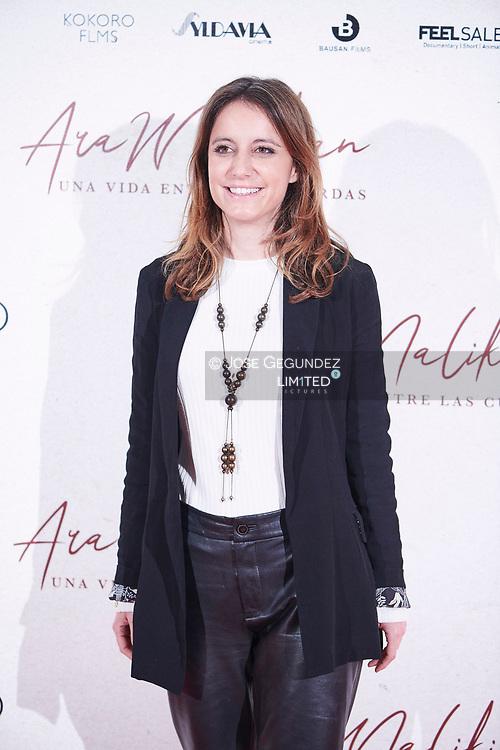 Andrea Levy attends 'Ara Malikian: una vida entre las cuerdas' premiere at Callao Cinema on October 23, 2019 in Madrid, Spain