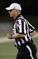 25 October 2014:  Referee Greg Sujack during an NCAA Missouri Valley Conference game between the Missouri State Bears and the Illinois State Redbirds at Hancock Stadium in Normal, Illinois.