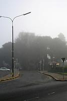 Foggy weather early morning in ballsbridge Dublin Ireland