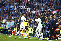 November 3, 2018 - Madrid, Madrid, Spain - Vinicius Jr (Real Madrid) seen coming in for Isco Alarcon (Real Madrid) during the La Liga match between Real Madrid and Real Valladolid at the Estadio Santiago Bernabéu..Final score Real Madrid 2-0 Valladolid. (Credit Image: © Manu Reino/SOPA Images via ZUMA Wire)