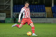 Ronnie Henry (Stevenage) during the Sky Bet League 2 match between Hartlepool United and Stevenage at Victoria Park, Hartlepool, England on 9 February 2016. Photo by Mark P Doherty.