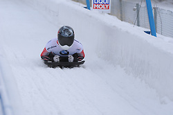 February 23, 2019 - Calgary, Alberta, Canada - Jane Channell (Canada) finishes her second heat run during BMW IBSF SKELETON WORLD CUP Calgary Canada 23.02.2019 (Credit Image: © Russian Look via ZUMA Wire)