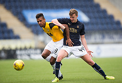 East Fife's Nathan Austin and Falkirk's Paul Watson. Falkirk 3 v 1 East Fife, Petrofac Training Cup played 25th July 2015 at The Falkirk Stadium.